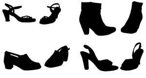 Siluetta di vettore delle scarpe royalty illustrazione gratis