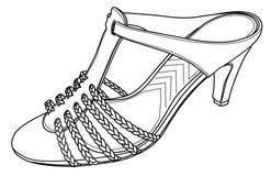 Siluetta di vettore delle scarpe Immagini Stock