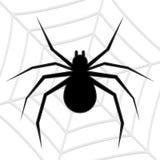Siluetta di vettore di un ragno Fotografia Stock