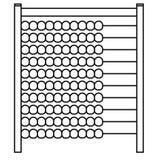 Siluetta di vettore ENV dell'abaco dai oks del crafter illustrazione vettoriale