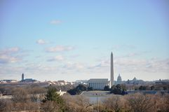 Siluetta di Washington. fotografie stock libere da diritti