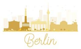 Siluetta dorata dell'orizzonte di Berlin City Fotografie Stock Libere da Diritti