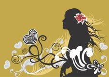 Siluetta femminile illustrazione di stock