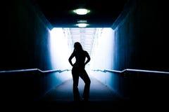 Siluetta femminile Fotografia Stock Libera da Diritti