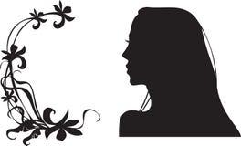 Siluetta femminile Fotografia Stock
