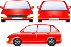 Siluetta isolata rossa dell'automobile Fotografie Stock