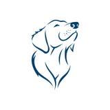 Siluetta Logo Template del fronte del cane Fotografie Stock