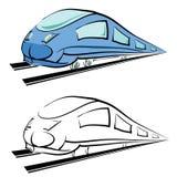 siluetta moderna del treno illustrazione vettoriale