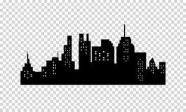 Siluetta moderna della città Immagini Stock Libere da Diritti