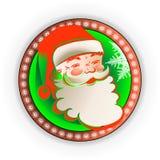 Siluetta nel telaio rotondo Santa Claus royalty illustrazione gratis