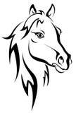 Siluetta nera del cavallo Fotografie Stock