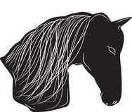 Siluetta nera del cavallo illustrazione di stock