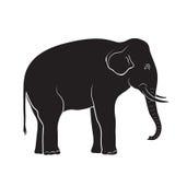 Siluetta nera dell'elefante illustrazione vettoriale