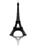 Siluetta nera della Torre Eiffel Immagini Stock