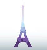 Siluetta nera della torre Eiffel Immagine Stock