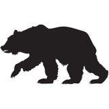 Siluetta nera di un orso grigio Immagini Stock