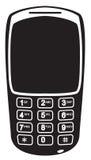Siluetta nera mobile con i numeri Immagini Stock Libere da Diritti