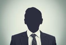 Siluetta sconosciuta della persona Fotografia Stock Libera da Diritti