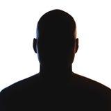 Siluetta sconosciuta della persona di sesso maschile Fotografie Stock Libere da Diritti