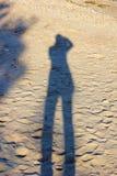 siluetta sulla sabbia Fotografia Stock