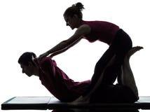 Siluetta tailandese di massaggio Fotografia Stock