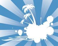 Siluetta tropicale Fotografia Stock