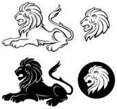 siluette λιονταριών Στοκ εικόνα με δικαίωμα ελεύθερης χρήσης