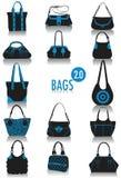 Siluette 2 dei sacchetti Fotografie Stock