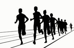Siluette - 5000 mt Fotografia Stock Libera da Diritti