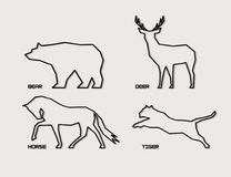 Siluette animali astratte royalty illustrazione gratis