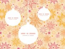 Siluette calde degli ornamenti di Natale delle stelle di vettore Fotografie Stock