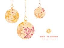 Siluette calde degli ornamenti di Natale delle stelle di vettore Immagine Stock Libera da Diritti