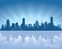 Siluette d'horizon de ville d'Australie de Melbourne illustration de vecteur