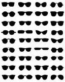 Siluette degli occhiali Immagini Stock