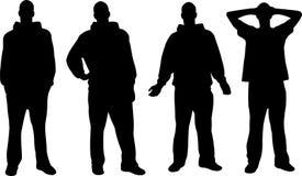 Siluette degli uomini Fotografia Stock Libera da Diritti