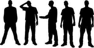 Siluette degli uomini Immagini Stock Libere da Diritti