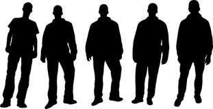 Siluette degli uomini Immagine Stock Libera da Diritti