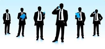 Siluette degli uomini d'affari Immagini Stock