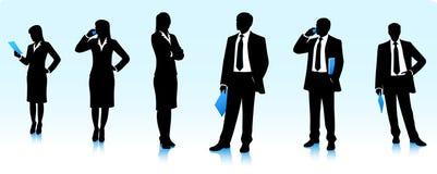 Siluette degli uomini d'affari Immagini Stock Libere da Diritti