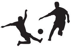 Siluette dei calciatori illustrazione vettoriale