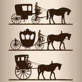 Siluette dei carrelli royalty illustrazione gratis