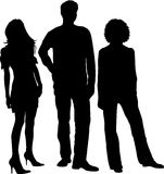 Siluette dei giovani Immagini Stock Libere da Diritti