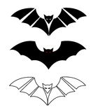 Siluette dei pipistrelli Fotografia Stock Libera da Diritti