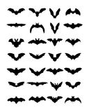 Siluette dei pipistrelli Fotografia Stock