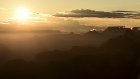 Siluette del grande canyon Fotografia Stock Libera da Diritti