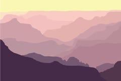 Siluette del grande canyon royalty illustrazione gratis