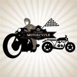 siluette del motociclo 0041 Fotografie Stock Libere da Diritti