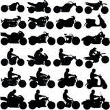 Siluette del motociclo Fotografia Stock Libera da Diritti