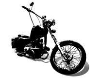 Siluette del motorcycl della strada Fotografie Stock