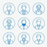 Siluette del profilo dell'uomo illustrazione di stock